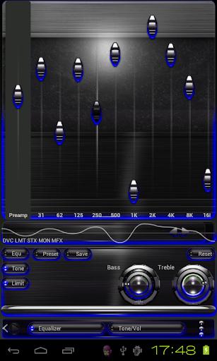 【免費音樂App】Poweramp skin Blue Glow-APP點子