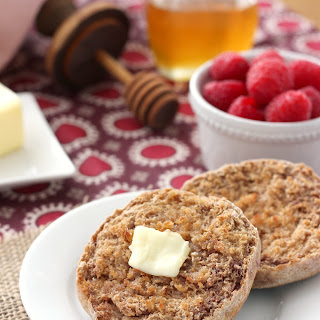 Whole Wheat Cinnamon Raspberry English Muffins