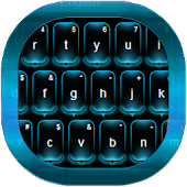 Neon Blue Keyboard Free