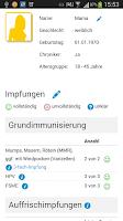 Screenshot of myImpf-Uhr