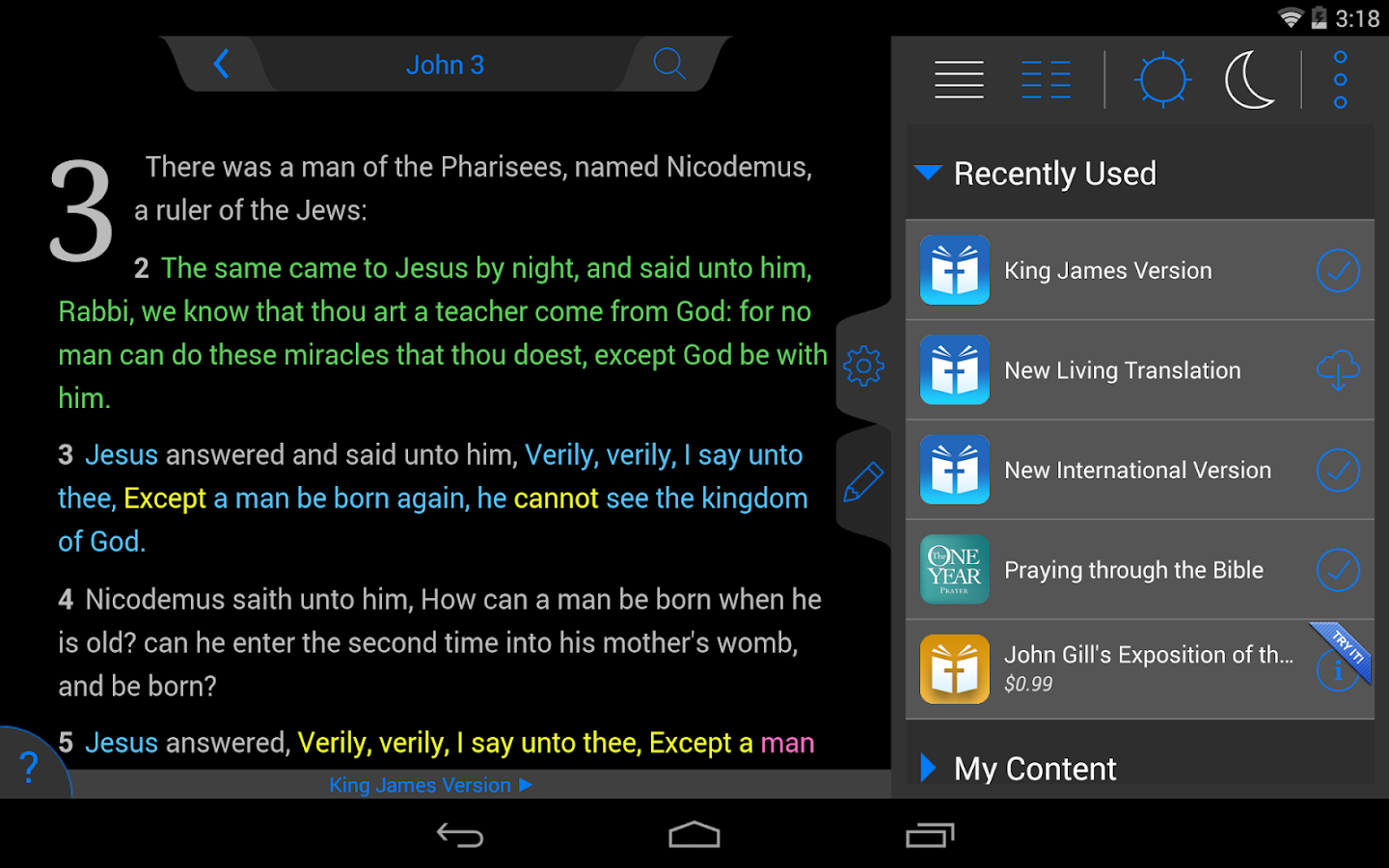 Amplified Bible- screenshot