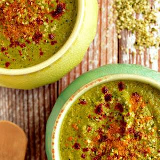 """""""Cheezy"""" Broccoli + Kale Soup"""