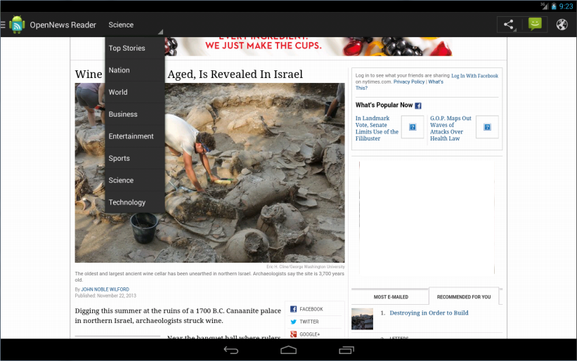 OpenNews Reader - screenshot