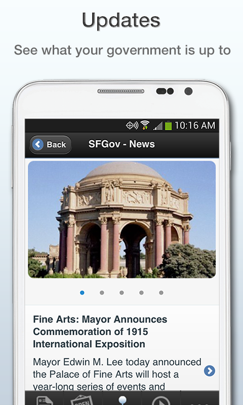 SFGov- screenshot
