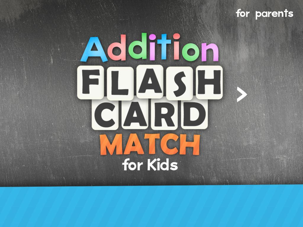 Addition Flash Card Match Kids- screenshot