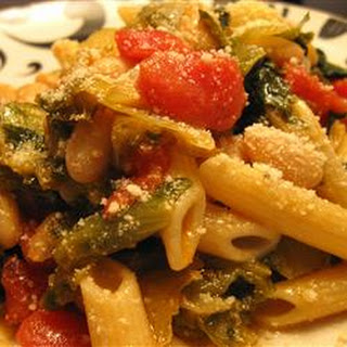 Penne Pasta with Cannellini Beans and Escarole.