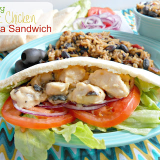Healthy Greek Chicken Pita Sandwiches.