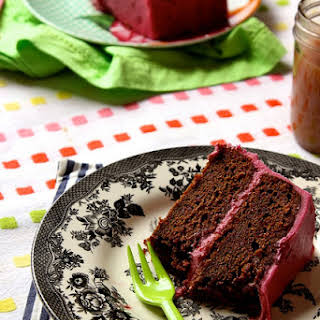 Chocolate Beet Cake with Beet Cream Cheese Frosting.