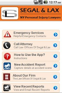 Accident App by Segal & Lax - screenshot thumbnail