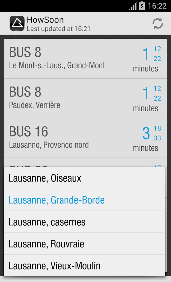 HowSoon:Swiss Public Transport- screenshot