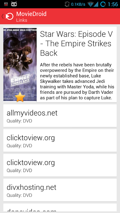 MovieDroid (Stream Movies) - screenshot