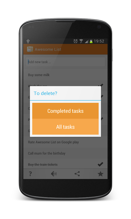 Awesome List To-Do Tasks - screenshot