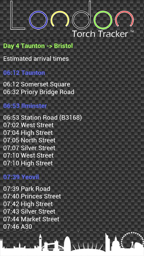 London Torch Tracker - screenshot