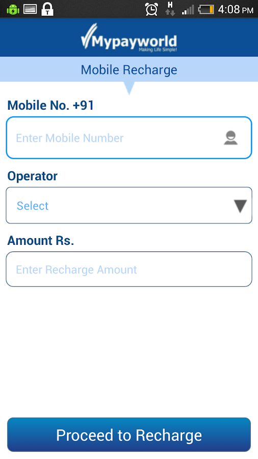 Mobile Recharge,DTH,Bill Pay- screenshot