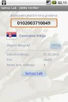Screenshot of JMBG Verifier