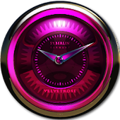 Velvet Rose Clock Widget