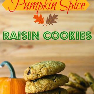 Gluten Free Pumpkin Raisin Cookies