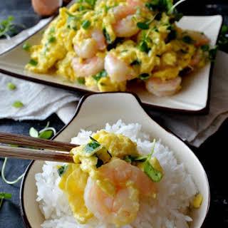 Stir-fried Shrimp and Eggs.