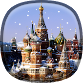 Snow in Moscow Live Wallpaper