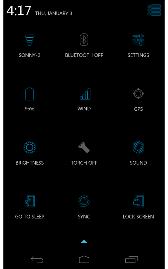 Blue Glow CM11 AOKP Theme- screenshot