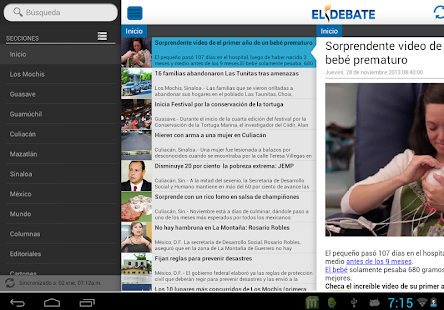 El Debate RSS - screenshot thumbnail