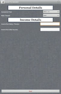 Income Tax Calculator - screenshot thumbnail