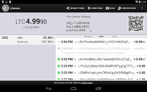 Litecoin Wallet - screenshot thumbnail