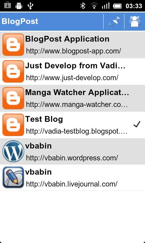 BlogPost (Blogger Client) - screenshot