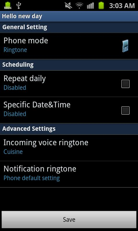 Ringtone Scheduler Free- screenshot
