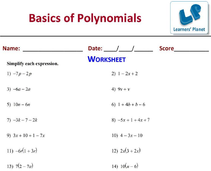 Printables Grade 9 Math Worksheets maths worksheets for grade 9 cbse polynomials screenshot worksheet