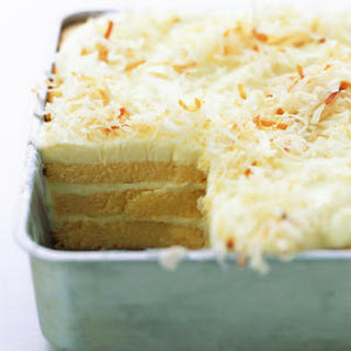 Toasted-Coconut Refrigerator Cake.