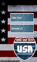 Screenshot of USA Road Sign Test
