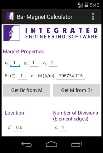 Bar Magnet Calculator