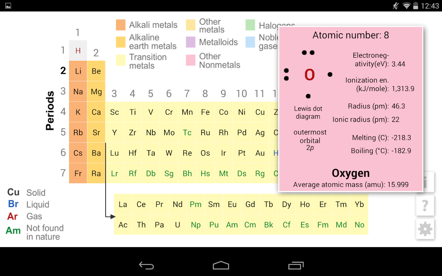 K12 periodic table android apps on google play k12 periodic table screenshot gamestrikefo Choice Image