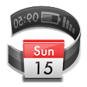 Calendar in Status bar logo