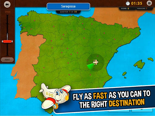 GeoFlight Spain: Geography