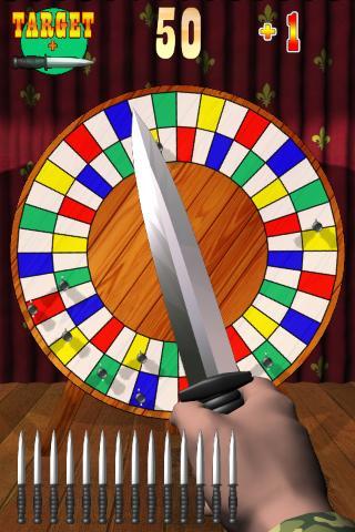ナイフを投げる