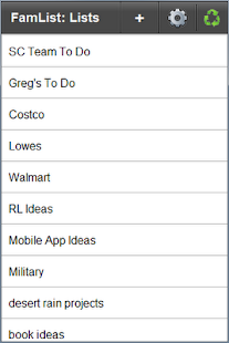 FamList: Live Lists Everywhere- screenshot thumbnail