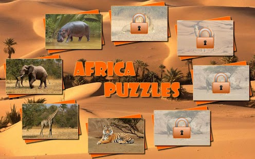 Africa Puzzles for kids (Lite) - screenshot thumbnail