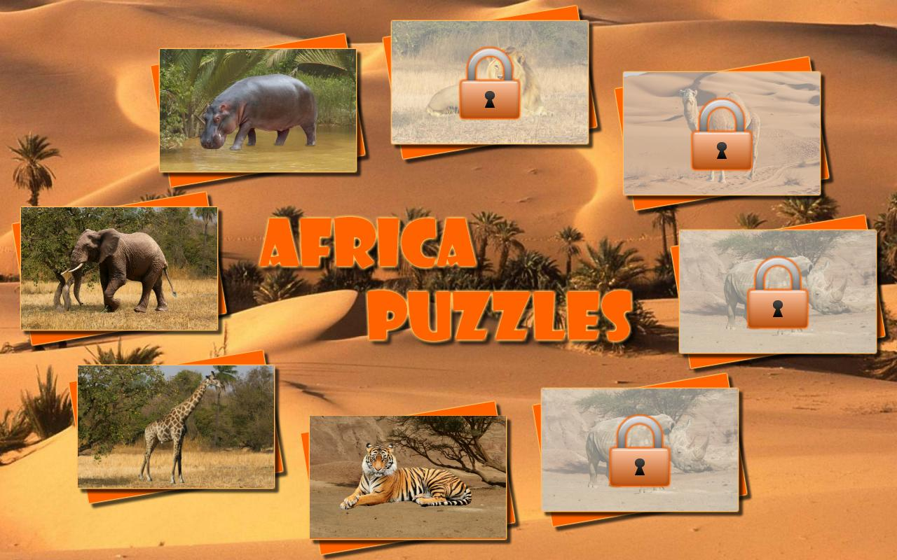 Africa Puzzles for kids (Lite) - screenshot