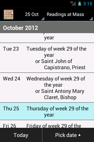 Catholic Calendar: Universalis - screenshot