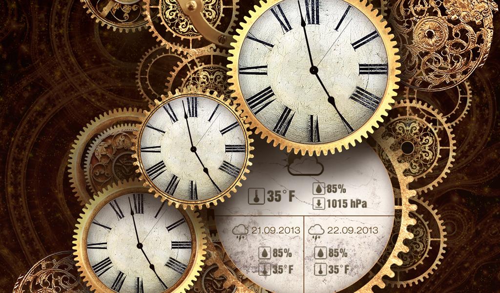 Gold Clock Live Wallpaper Hd Screenshot