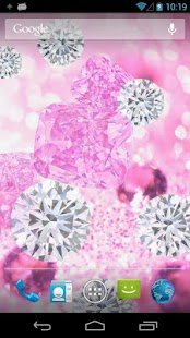 Pink Diamonds Live Wallpaper - screenshot thumbnail