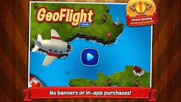 Screenshot of GeoFlight Canada: Geography