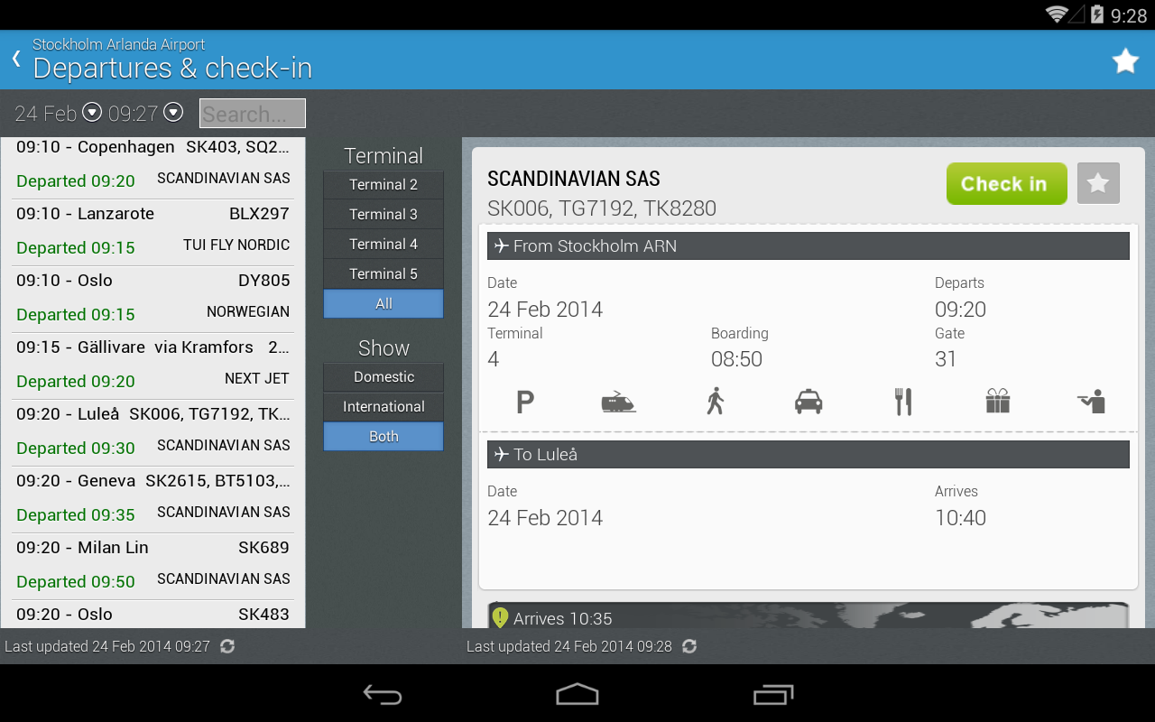 Swedavia Swedish Airports - screenshot