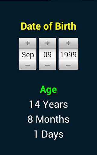How old are you Age Calculator