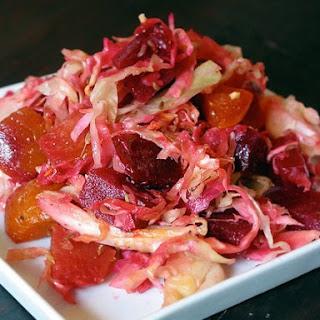 Cabbage Beet Coleslaw.