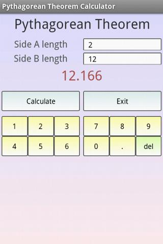 Pythagorean Theorem Calculator - screenshot