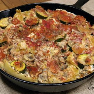 Zucchini and Mushroom Skillet Lasagna #SundaySupper