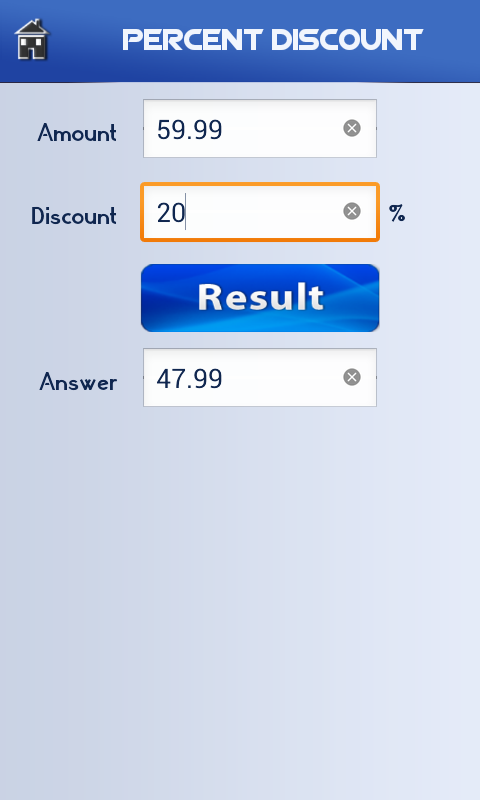 Percent Calculator - screenshot
